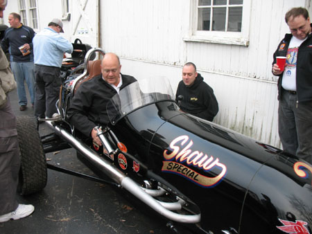 Hoffman Auto Racing on Happy Dog     At A Hoffman Auto Racing Fish Fry  Greg Grins After