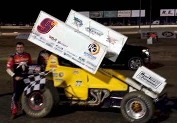Derek Hagar won the USCS feature and lapped the field at Columbus MS ...